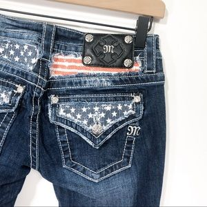 Miss Me American Flag Signature Bootcut Jeans 26